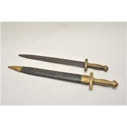 18AL-17 SWORD LOTLot of 2 French style Civil War era swords;  one with a rusted blade and no sheath,
