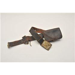 18AL-25 CIVIL WAR LOTCivil War Non-Commissioned or Enlisted man's  belt, belt buckle, cartridge box