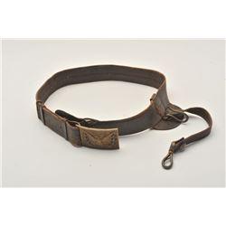18AL-27 U.S. OFFICER'S BUCKLEU.S. Officer's buckle and belt with sword  hanger; good + condition ove