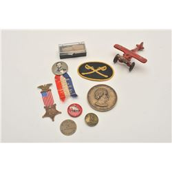 18AL-31 VINTAGE LOTVintage lot of smalls including a toy metal  Winchester Store advertiser airplane