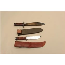 17JL-20 SCABMilitaria lot including a minty Cattaraugus  fighting knife with unmarked scabbard and a