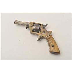 "18AP-15 SPUR TRIGGERTranter's Patent spur trigger revolver, .22  caliber, 2.5"" octagon barrel, brass"