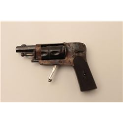 18AR-72 VELO DOG REVOLVERBelgian 5mm Velo Dog style revolver with  folding trigger circa 1890's. 90%