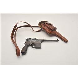 17LP-4 BANNER MAUSERBanner Mauser Model C-96 semi-auto pistol,  .30 caliber, Serial #310461.  The pi