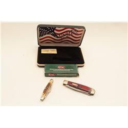 17AG-3 LOT OF 2 CASE KNIVESLot of two Case pocket knives.  The first is  a Stockman model with a 2 ½