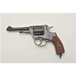17MH-55 1895 NAGANT REVOLVERRussian Nagant Model 1895 DA revolver (1938  dated), 7.62 mm caliber, bl
