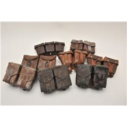 17MH-76 AMMO POUCH LOTBonanza lot of approximately 18 misc. ammo  pouches, mostly European military
