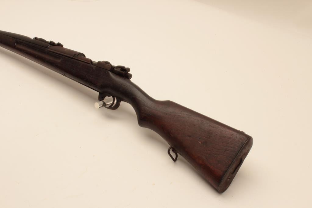 17KH-591 SAIMESE MAUSERSiamese Mauser bolt action rifle, 9mm caliber, no  magazine, wood stock, no v