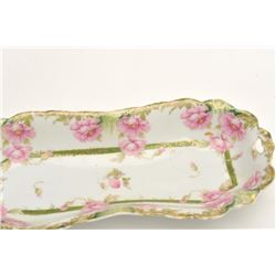 """17FU-15 GERMAN PORCELAIN TRAY CIRCA LATE 1800sGerman painted porcelain tray, approximately   12"""" x 5"""