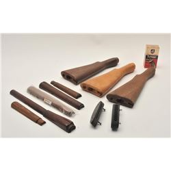 17MH-84 MISC LOTLot of misc.  handguards, 3 Enfield butt  stocks, plus more!    Est.:  $50-$100.