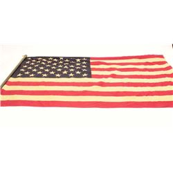 17EA-18 44 STAR FLAG 1891-189650 star American flag on pole; shows age.      Est.:  $75-$150.