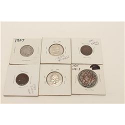 17HW-26 COIN LOTLot of collector's coins as described: 1845  large cent, 1899 1 cent, 1888 1 cent, 2