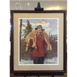 Autographed Framed Fred Bear Print