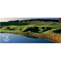 One 18-hole foursome with carts at Eagle Eye Golf Course