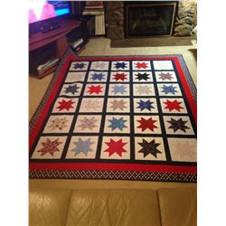 "Handmade Patriotic ""Red, White, and Blue"" Quilt"