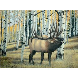 """16""""x20"""" Elk Wildlife Print – printed from an original oil painting by New Mexico artist Isaac Martin"""