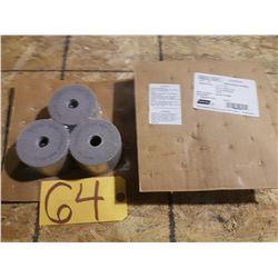 Norton Alundum Grinding Wheel 3''x2''x3/4'' Rim 1/4'' Back 5/16''