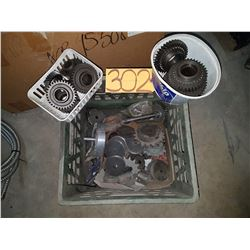Box with Gear , Sprokets & others contain