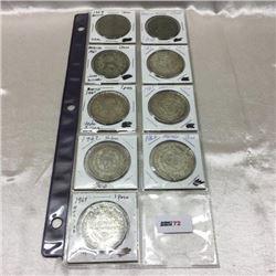 Mexico Silver Peso Coins