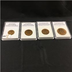 Great Britain 4 Coins Capsuled (CHOICE of 4 Sets)