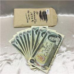 Canada $1 Bills - Set of 50 Consecutive