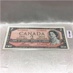 Canada $2 Bill 1954
