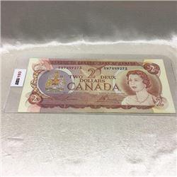 Canada $2 Bill 1974