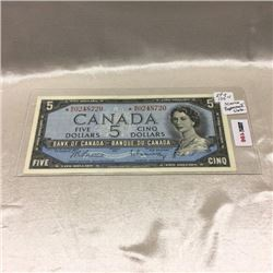 Canada $5 Bill 1954