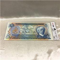 Canada $5 Bill 1972