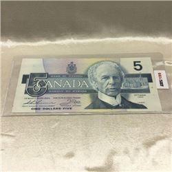 Canada $5 Bill 1986