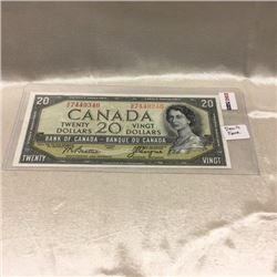 Canada $20 Bill 1954DF