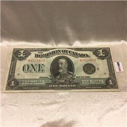 "Canada $1 Bill ""Horse Blanket"" 1923"