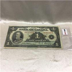 Canada $1 Bill 1935