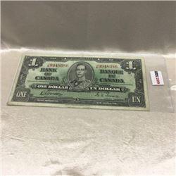 Canada $1 Bill 1937