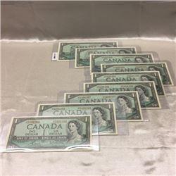 Canada $1 Bills - 1954