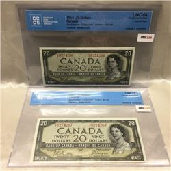 Canada $20 Bills - 1954 Devil's Face