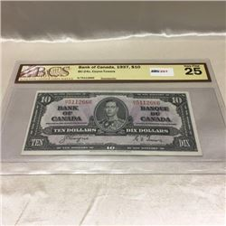 Canada $10 Bill - 1937