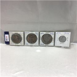 Foreign Coins - Strip of 4