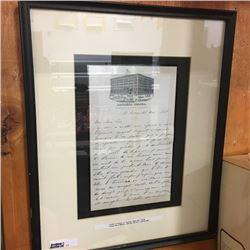LOT11: Framed Letter