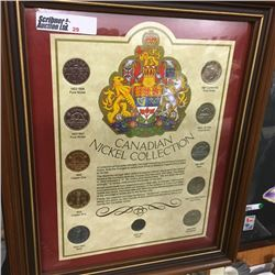 LOT29: Framed Canadian Nickel Collection