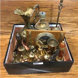 LOT32: Box Lot: Brass Theme (Bells, Clock, Lamp, etc!)