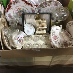 LOT37: Box Lot: Variety Glassware/Collectibles