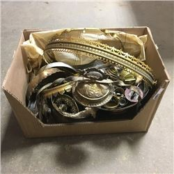 LOT44: Box Lot: Coal Oil Lamp Parts