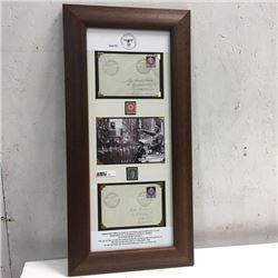 LOT52: Framed: 1943 WW2 Historical Envelopes (Rare - Special Hand Stamped)