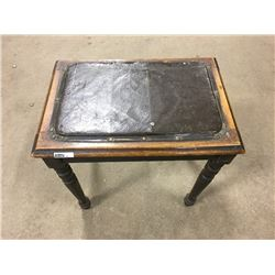 LOT60: Leather Top Bench