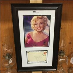 LOT62: Framed Picture & Envelope Addressed to Marilyn Monroe Dated 1957