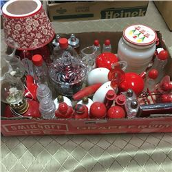 LOT95: Tray Lot - Red & White Theme