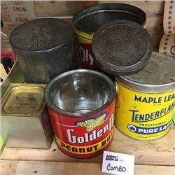 LOT121: Vintage Kitchen Tins Combo