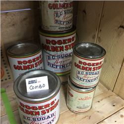 LOT123: Rogers Syrup Tins