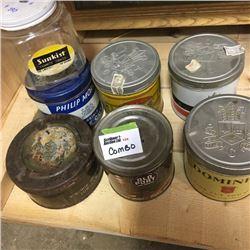 LOT124: Tobacco Tins/Jar